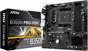 MSI Gaming AMD Ryzen B350 Motherboard