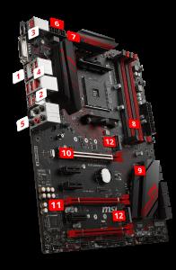 MSI Performance Gaming AMD X470 ATX Ryzen Motherboard