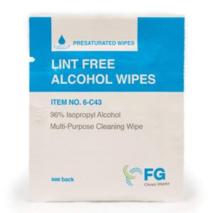 Lint Free Alcohol Wipes